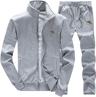 Mens Tracksuit Set Gym Bottoms Top Jogging Joggers Sports Suit Sweatshirt Hoodie Jacket Gym Joggers Sweatpants Casual Trac...