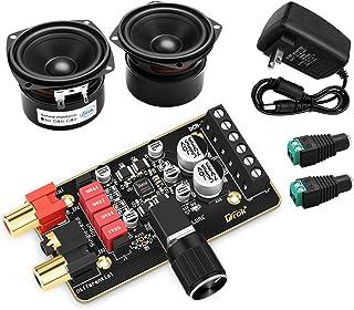 Speaker DIY Kit, DROK 15W+15W Amplifier Board + 2pcs 15W 4 Ohm Speakers, 2.0 Dual Channel Digital Audio Power Amp Module 9...