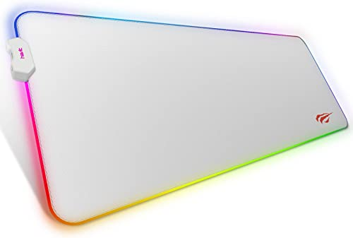 havit RGB Gaming Mouse Pad Soft Non-Slip Rubber Base Mouse Mat for Laptop Computer PC Games (31.511.80.16 inches, White)