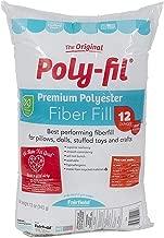 Fairfield FAIPFT12 Fiber Poly Fil Bag, 12 oz, White (4, 12 oz)