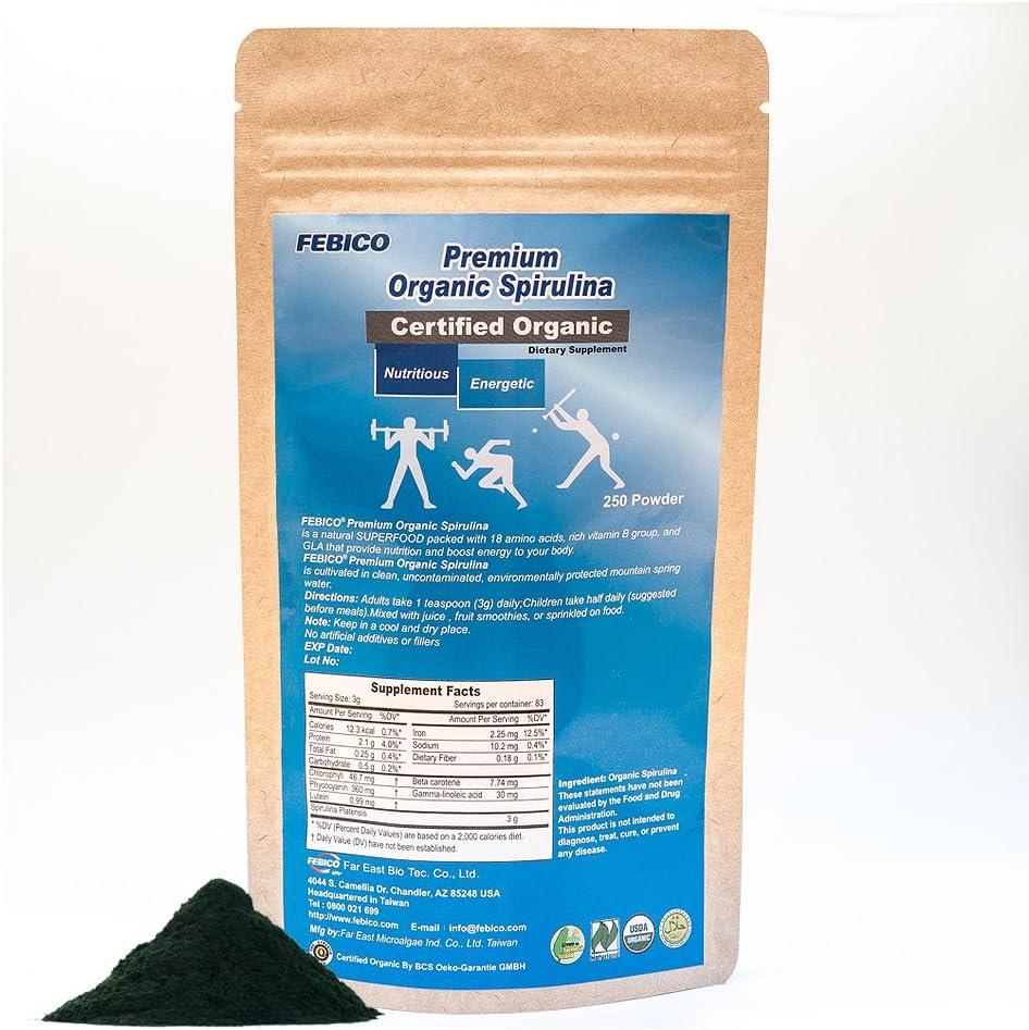 2021 autumn and winter new Febico Organic Spirulina Powder Phycocyan Natural Popular brand Multivitamin