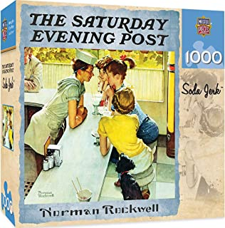 MasterPieces Saturday Evening Post Jigsaw Puzzle, Norman Rockwell Soda Jerk Collage, 1000 Pieces