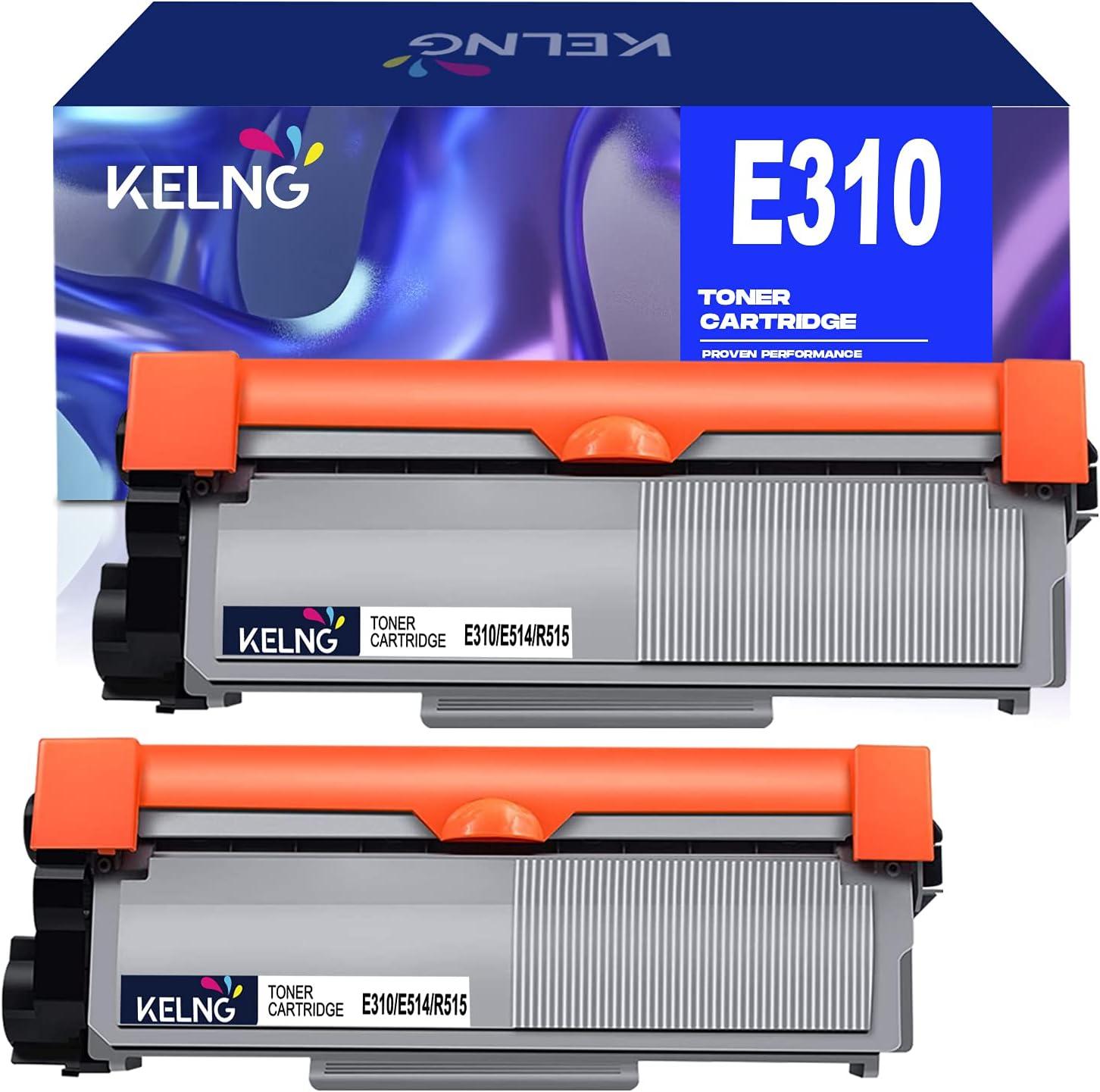 KELNG Compatible Toner Cartridge E310dw Replacement for Dell E310dw P7RMX PVTHG 593-BBKD E310 E514 E515 to use with Wireless Monochrome E310dw E515dw E514dw E515dn Laser Printer Tray (Black, 2 Pack)