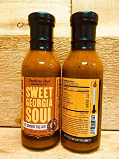 Southern Soul Barbeque BBQ Sauce - Award Winning BBQ Sauce from the South's Best BBQ (Sweet Georgia Soul, One 14oz Bottle)