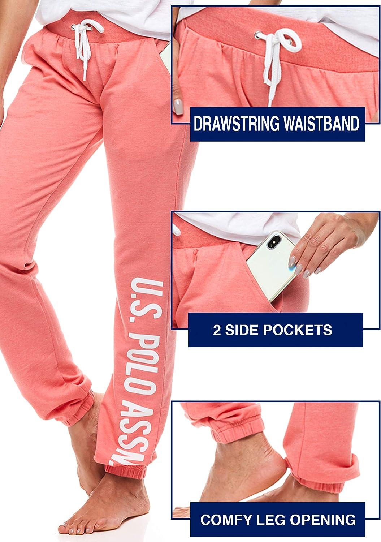 U.S Womens Pajama Set Sleepwear 2 Piece Set Polo Assn Short Sleeve T-Shirt with Lounge Pajama Pants