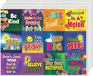 Creanoso Colorful Inspirational and Motivational Quote Stickers for Kids (10-Sheet) – Inspiring Encouraging Words Wall Art Sticker Assorted Set – Gift Incentives Ideas – Parents Teacher Rewards