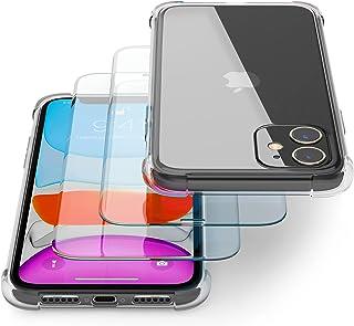 Transparente Coque pour IPhone 11 avec Verre Trempé/Film Protection écran (2 Pack) – Transparent Etui Compatible avec Appl...