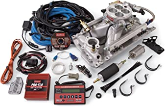 Edelbrock 350701 Pro-Flo 2 Electronic Fuel Injection Kit Polished Finish Incl. Manifold/Throttle Body/Fuel Rails/Fuel Inj/ECU/Calibration Module For Use With Vortec/E-Tec Cylinder Heads Pro-Flo 2 Electronic Fuel Injection Kit