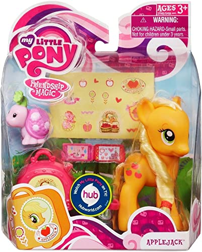 My Peu Pony Figure Applejack with Suitcase by Hasbro