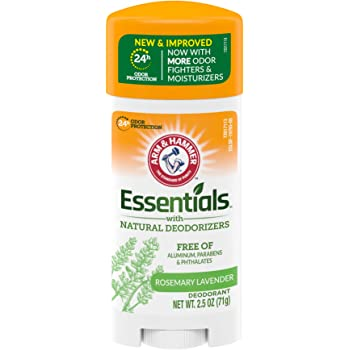 ARM & HAMMER Essentials Deodorant with Natural Deodorizers, Fresh Rosemary Lavender, 2.5 OZ
