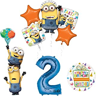 Mayflower Products Despicable Me 3 Minions Stacker 2nd Birthday Party Supplies and balloon Decorations
