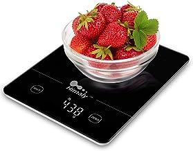 himaly 5 kg/11lbs Balance Cuisine,Balance de Cuisine /pâtisserie à Écran LED en Verre trempé,Balance de Précision de 1g,Ba...