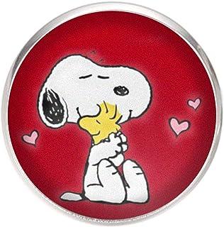 Spilla con perno in acciaio inossidabile, diametro 25 mm, spillo 0,7 mm, Fatto a Mano, Illustrazione Snoopy 2