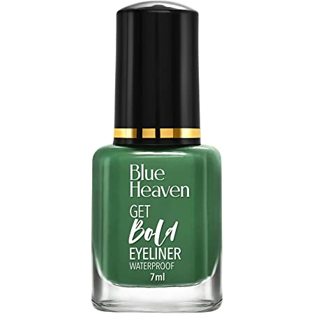 Blue Heaven Water Proof Regular Eyeliner - Green, Green, 7 ml (Pack of 2)