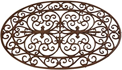 "Esschert Design Cast Iron Doormat - Oval 29"" x 19"""