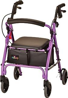 "Sponsored Ad - NOVA GetGo Petite Rollator Walker (Petite & Narrow Size), Rolling Walker for Height 4`10"" - 5""4"", Seat Heig..."