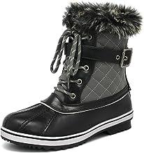 DREAM PAIRS Women's Mid Calf Winter Snow Boots