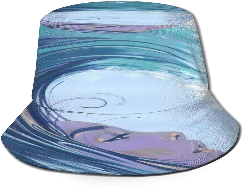 Surf Woman Art Bucket Hat Unisex Raleigh Mall Sun Summer Fisherm San Diego Mall Packable