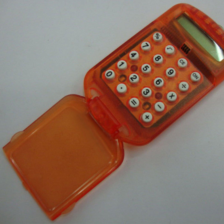 ReFaXi 1pcsミニ電卓桁LCD表示キーリング付きfor学校Office