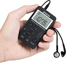 JESSON Personal AM FM Pocket Radio Portable Digital Tuning Stereo Radio with Earphone and..
