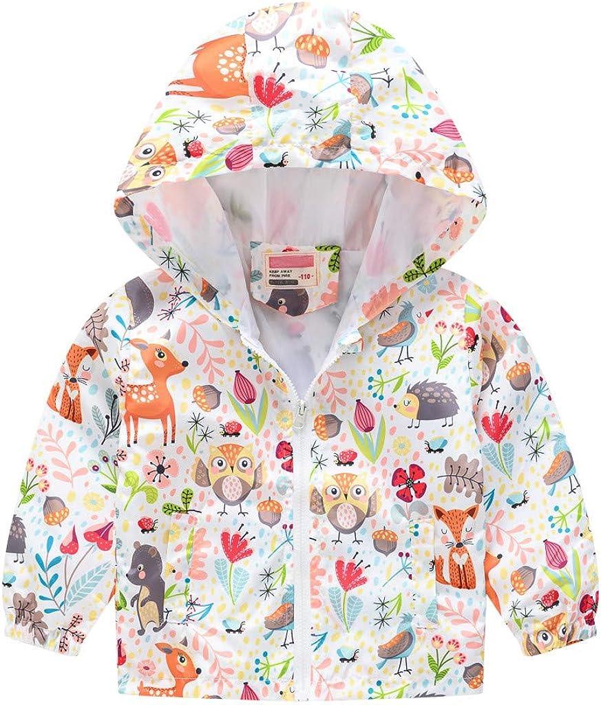 Toddler Boys Girls Waterproof Hooded Raincoa Zipper Kids 25% OFF Jacket Austin Mall