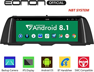 Eonon Android 8.1 Car Stereo, Car Radio 10.25 inch IPS display Screen Support Android Auto, Carplay,Applicable to BMW 5 Series F10/F11 (2013-2016) NBT Compatible with iDrive System Head Unit- GA9204NB