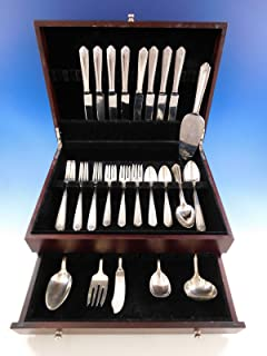 Lady Hilton by Westmorland Sterling Silver Flatware Set for 8 Service 47 pieces