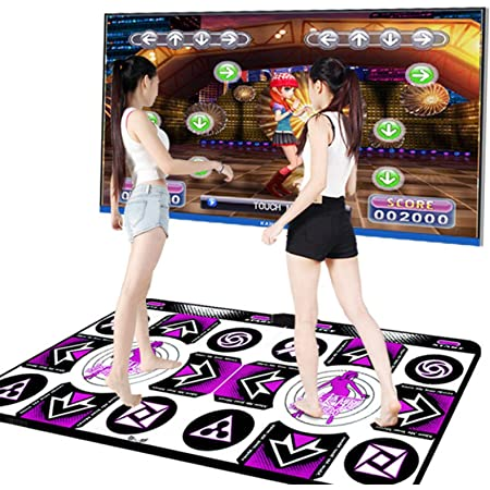 High Sensitivity Sense Game for PC TV Dance Mat for Kids Adults Multi-Function Games /& Levels Battery Include Double User Non-Slip Wireless Dancer Step Pads with 150 Games and AUX Music