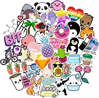 Stickers for Water Bottles Big 45-Pack Waterproof Cute Trendy Stickers for Teens Kids Girls and Boys, Perfect for hydro flask Laptop Notebook Phone Car Skateboard Extra Durable 100% Vinyl