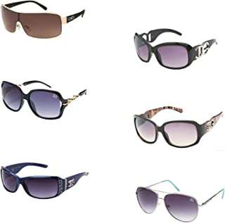 3e65f98dbfdc 6 Pair of High Fashion Sunglasses with Soft Pouches