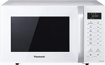 Panasonic NN-K35H - Microondas con Grill (800 W, 23 L, 5 Niveles de Potencia, Grill de Cuarzo de 1000 W, Plato Giratorio de 288 mm, Control Táctil, 11 Modos Automáticos, Bloqueo de Niños) Color Blanco