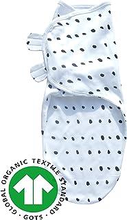 Sleeping Rebels Pucksack Baby 2er Set Bio-Baumwolle Pucktuch Swaddle Sommer-Schlafsack Wickel-Decke zum Pucken und Wickeln von Babys f/ür M/ädchen und Junge-n Grau-Wei/ß 0-3 Monate