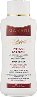 Makari Naturalle Intense Extreme BODY Lotion 17.6oz – Lightening, Toning & Moisturizing Body Cream With Shea Butter & SPF 15 – Anti-Aging & Whitening Treatment for Dark Spots, Acne Scars & Wrinkles