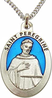 Westman Works Large Enamel Patron Saint Medal 1.5 Inch Pendant with Chain