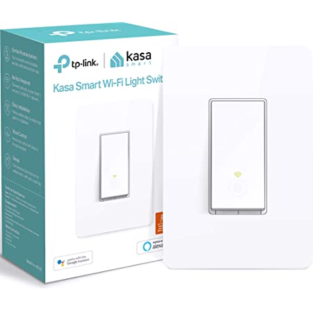Kasa Smart Light Switch HS200, Single Pole, Needs Neutral Wire, 2.4GHz Wi-Fi Light Switch Works with Alexa and Google Home, UL Certified, No Hub Required