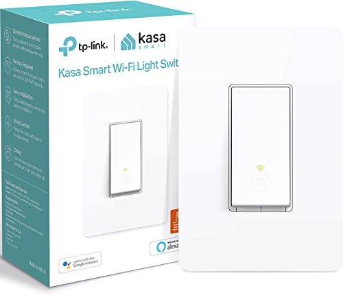 Kasa Smart Light Switch HS200, Single Pole, Needs Neutral Wire, 2.4GHz Wi-Fi Light Switch Works with Alexa and Google...