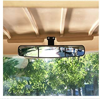 EGUANSHIZU Golf cart Mirror Extra Wide Panoramic mounts Rear View Star Club car for Club car ezgo ez-go Yamaha and Others