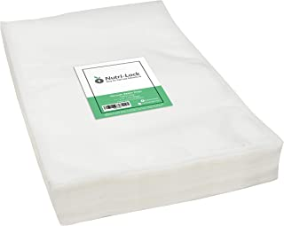 Nutri-Lock Vacuum Sealer Bags. 200 Gallon Bags 11x16 Inch. Commercial Grade Food Sealer Bags for FoodSaver, Sous Vide
