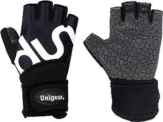 Unigear 筋トレ ウェイトリフティング グローブ トレーニング ジム リストフラップ付き 手首保護 滑り止め 通気 男女兼用 3カラー 3サイズ