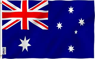 Anley |Fly Breeze| 3x5 Foot Australia Flag - Vivid Color and UV Fade Resistant - Canvas Header and Double Stitched - Austr...