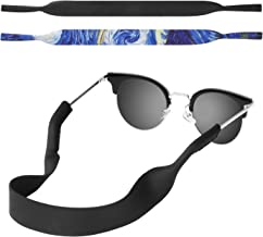MoKo Neoprene Eyewear Retainer, [2 Pack] Universal Fit No Tail Sports Sunglasses Retainer, Sunglass Strap Safety Glasses Holder for Men, Women