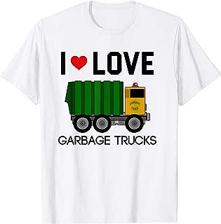 I Love Garbage Trucks Shirt | Cool Little Garbage Lover Gift
