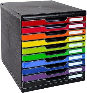 Exacompta - Réf. 302798D - MODULO A4 - Caisson 10 tiroirs fermés pour documents A4+ - Dimensions extérieures : Profondeur ...