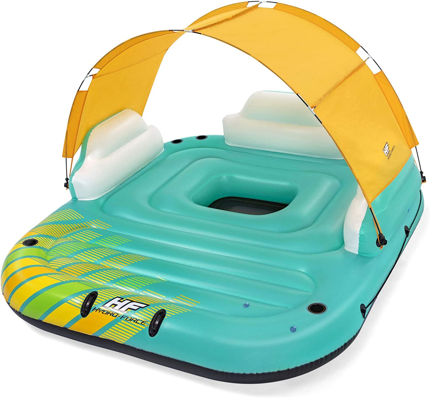 Bestway Hydro Force Sunny 5 Person Inflatable Floating Island Lounge Raft $130  Coupon