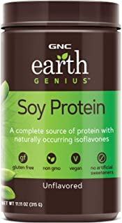 GNC Earth Genius Soy Protein Unflavored, 21 Servings