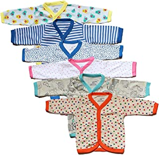 VADMANS BaBy CaSTLe Unisex Pure Cotton Front Open Full Sleeves vest-jabla-Tops-tees-T-shirt-jhabla Multi Print Cute For Baby