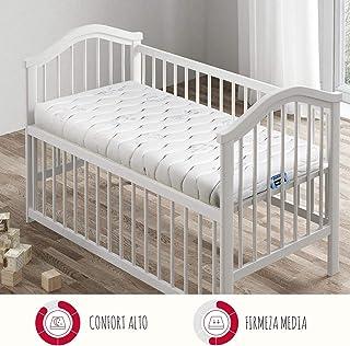 PIKOLIN, colchón Cuna Celular HR, firmeza y Confort Alto, Dos Caras, Oeko-Tex, 60x120, higiénico y Transpirable, Soft