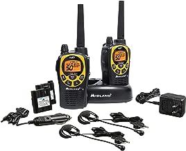 Midland - GXT1030VP4, 50 Channel GMRS Two-Way Radio - Up to 36 Mile Range Walkie Talkie, 142 Privacy Codes, Waterproof, NOAA Weather Scan + Alert (Pair Pack) (Black/Yellow)