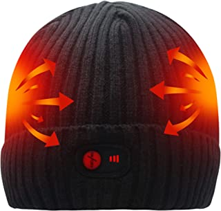 SVPRO Rechargeable Battery Heated Beanie Hat,7.4V Li-ion Battery Warm Winter Heated Cap,Works up to 3-7H