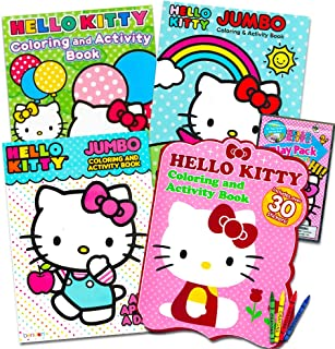 Hello Kitty Coloring & Activity Book Super Set ~ 5 Hello Kitty Coloring Books, Crayons, and over 50 Hello Kitty Stickers (Hello Kitty Party Pack)